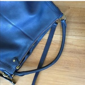 J Crew hobo leather purse with cross body strap